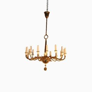 Lámpara de araña italiana de Oscar Torlasco para Lumi, años 50