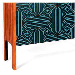 Blaues Loop Sideboard mit 3 Türen von Coucou Manou