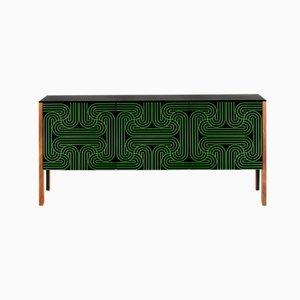 Grünes Loop Sideboard mit 3 Türen von Coucou Manou