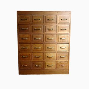 Large Vintage Spanish 24-Drawer Shop Dresser