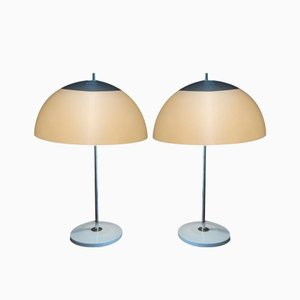 Mid-Century Chromed Table Lamps, 1970s, Set of 2