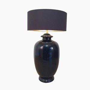 Lámpara negra de cerámica, años 60