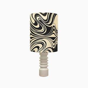 Lámpara danesa vintage de cerámica, años 60