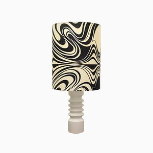 Vintage Danish Ceramic Pattern Lamp, 1960s