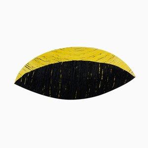 Schwarze & Gelbe Schale aus Baumwolle von Krupka-Stieghan