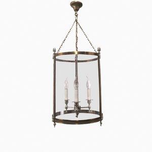 Lanterna neoclassica in ottone, anni '70