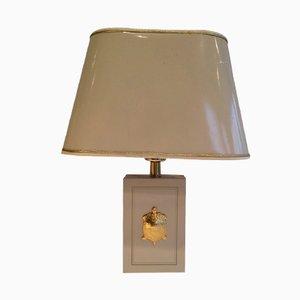 Lámpara de mesa con una tortuga dorada, años 70