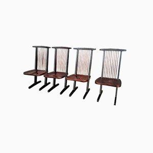 Chaises de Salon Vintage en Palissandre, 1973
