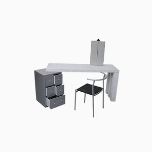 Dione Dressing Table by Antonia Astori De Ponti and Chair by Philippe Starck Set