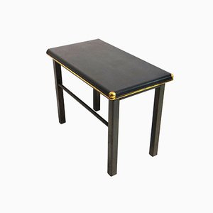 German Industrial Black Side Table
