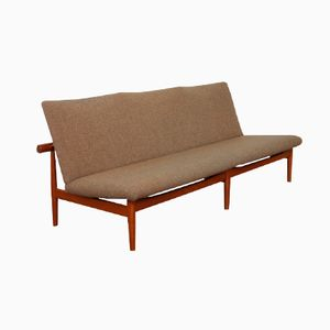 Danish FD 137 Teak and Brass Japan Sofa by Finn Juhl for France & Søn, 1953