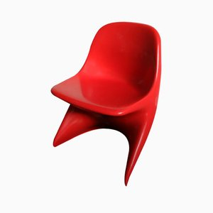 Chaise d'Enfants Casalino Vintage Rouge par Alexander Begge pour Casala, Allemagne, 1971