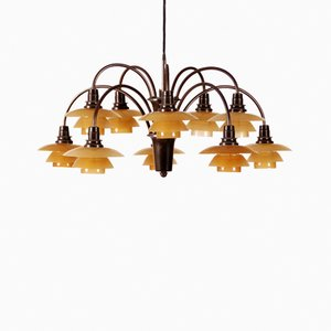 PH Lamp Ten-Armed Chandelier by Poul Henningsen for Louis Poulsen, 1929