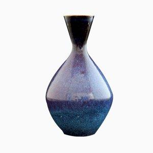 Blue Aniara Glaze Vase by Sven Wejsfelt for Gustavsberg, 1983