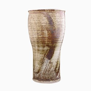 Brown Stoneware Vase by Lisa Larson for Gustavsberg, 1979