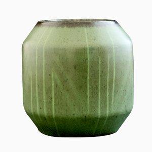 Vase Vert en Grès avec Design Géométrique par Einar Lynge Ahlberg pour Rörstrand, 1950s