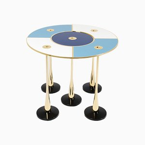 Table Basse Perspectiva Bleue par Fedele Papagni pour Fragile Edizione