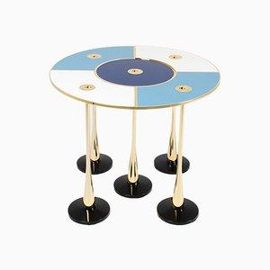 Table Basse Perspectiva Bleue par Fedele Papagni pour Fragile Edizione