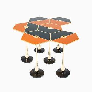 Mesa Perspectiva Table naranja de Fedele Papagni para Fragile Edizion