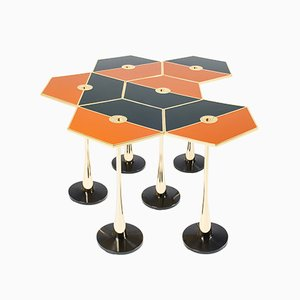 Table Basse Perspectiva Orange par Fedele Papagni pour Fragile Edizion