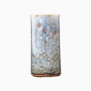 Vase Bleu et Vert en Grès par Marianne Westman pour Rörstrand, 1960s