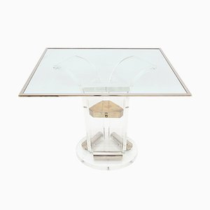 French Lucite Dining Table from Maison Jansen, 1970s