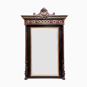 Specchio antico in legno nero e dorato, Francia