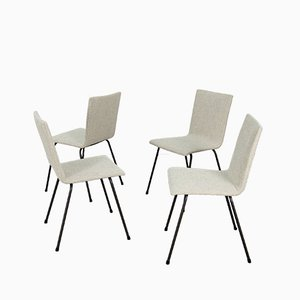 Deutsche Mid-Century Stahlstühle, 1960er, 4er Set