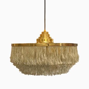 Swedish Brass Fringed Pendant Light by Hans Agne Jakobsson for Markaryd, 1960s
