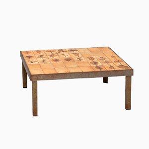 Tavolino da caffè serie Garrigue con piastrelle di Roger Capron
