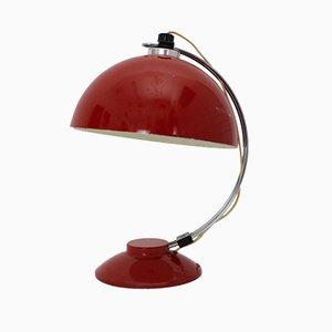 Lámpara de mesa alemana de metal cromado y aluminio, años 50