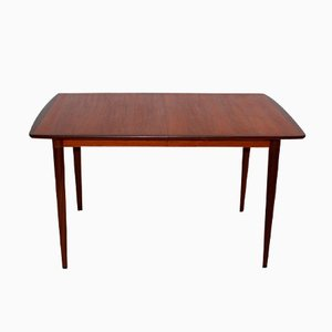 Danish Teak, Rosewood, and Ash Rectangular Extending Dining Table, 1960s