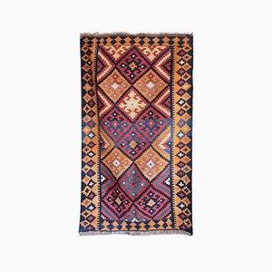 Flachgewebter indigener Vintage Kelim Teppich, 1940er