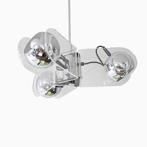 Spherical Chrome Ceiling Light 540 by Gino Sarfatti for Arteluce, 1960s