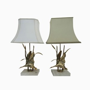 Hollywood Regency Style Brass Duck Table Lamps from Lancia, 1970s, Set of 2
