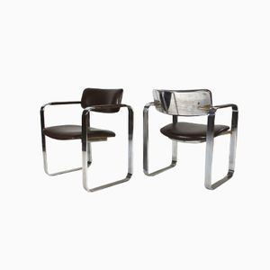 Italian Executive Chairs by Eero Aarnio for Mobel Italia,1968, Set of 2
