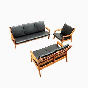 Dänische Sofas und Lehnstühle von Gustav Thams für Vejen Mobler, 1960er, 3er Set