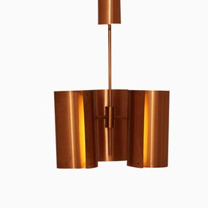 Lampe à Suspension en Cuivre par Hans Agne Jakobsson pour AB Markaryd, 1960s
