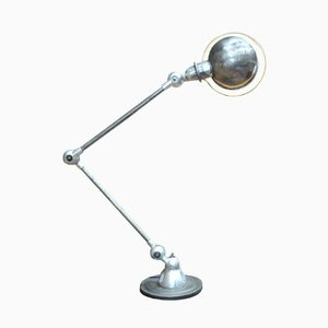 Lampe de Bureau Articulée Grise de Jieldé, 1950s