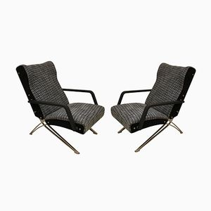 Reclining Chairs by Giulio Moscatelli for Formanova, 1970s, Set of 2
