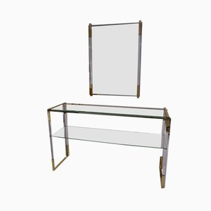 Console Table and Mirror Set by Pierre Cardin, 1970s