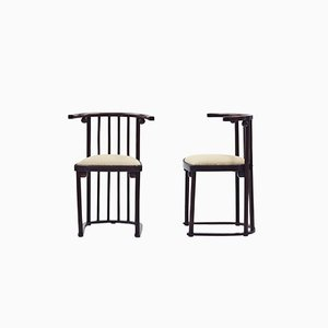 Chairs by Josef Hoffmann for Jakob & Josef Kohn, 1914, Set of 2