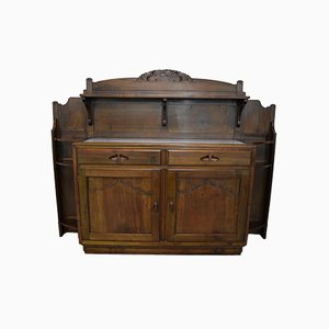 Italian Walnut Buffet from Giacomo Cometti, 1920