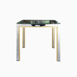 Chromed Metal Coffee Table