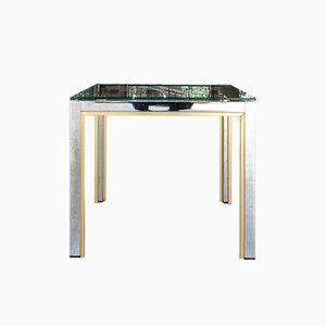 Tavolino da caffè in metallo cromato