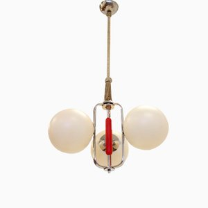 Functionalist Scandinavian Ceiling Light, 1950s