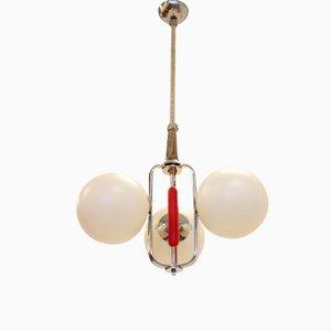 Lámpara de techo escandinava funcionalista, años 30