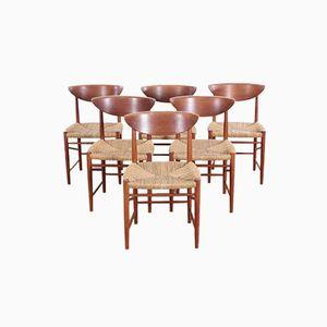 316 Dining Chairs by Peter Hvidt & Orla Mølgaard Nielsen for Søborg Møbelfabrik, 1958, Set of 6