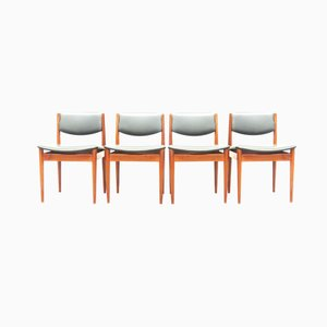 Vintage Leatherette Chairs by Finn Juhl for France & Son, Set of 4