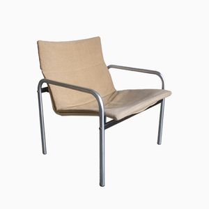 Vintage Cremefarbener Stuhl von W.H. Gispen für Kembo